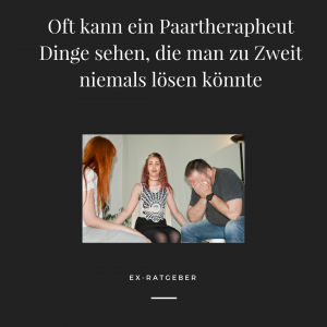 Beziehung retten - eine Paartheraphie kann immer helfen