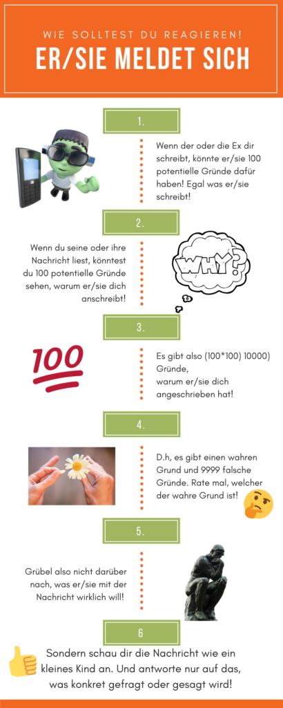 infografik - er/sie meldet sich