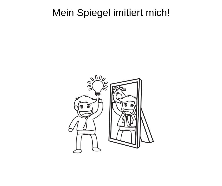 Spiegel imitiert